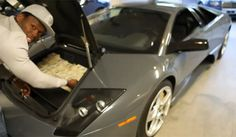 Wait... What!!! As if driving around in a Lamborghini wasn't expensive enough, 50 Cent drives it with $2million in the trunk! Hit the image to watch! #celebrityrides #spon