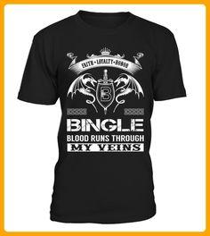 BINGLE Blood Runs Through My Veins - Shirts für singles (*Partner-Link)
