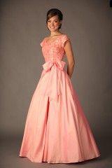 Beautifully modest prom dress