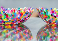 The Mosaic Melted Bead Bowl is easy enough for toddlers to make, but it looks absolutely stunning.