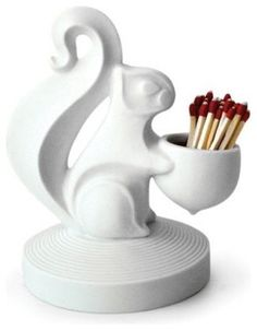 I would add this little guy to my mantle to find matches in a flash, and with fabulous style!