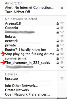 I approve of this passive aggressive wifi naming