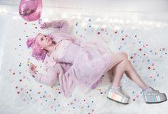 ☆ head of the ufo response team ☆ Kawaii Fashion, Lolita Fashion, Grunge Fashion, Cute Fashion, Fashion Ideas, Kawaii Dress, Kawaii Clothes, Pink Red Lipstick, Unicorn Outfit
