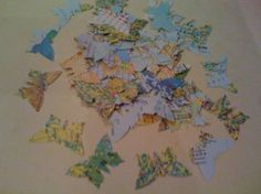 Butterfly shaped wedding table confetti - map design: Amazon.co.uk: Kitchen & Home