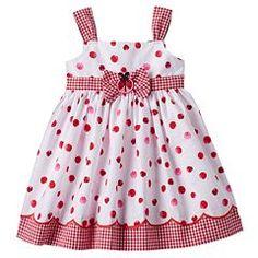 Baby Girl Blueberi Boulevard Ladybug Sundress