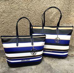 New shopping Bag tricolor in Valigeria Ambrosetti. 8b5e385b5f6