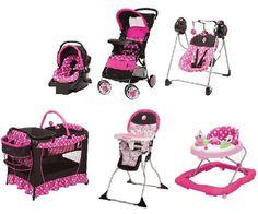 Minnie Mouse Newborn Set Stroller Playard Baby Girl Pink Infant Disney Gift New Craftsman Exterior, Disney Gift, Baby Gear, Future Baby, Baby Items, Pink Girl, Baby Strollers, Minnie Mouse, Infant