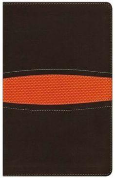 NIV Boys Bible, Italian Duo-Tone, Brown/Orange