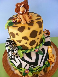 baby shower cake jungle theme