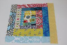 Mummas time to create: Sew-EASY scrappy log cabin quilt block tutorial...