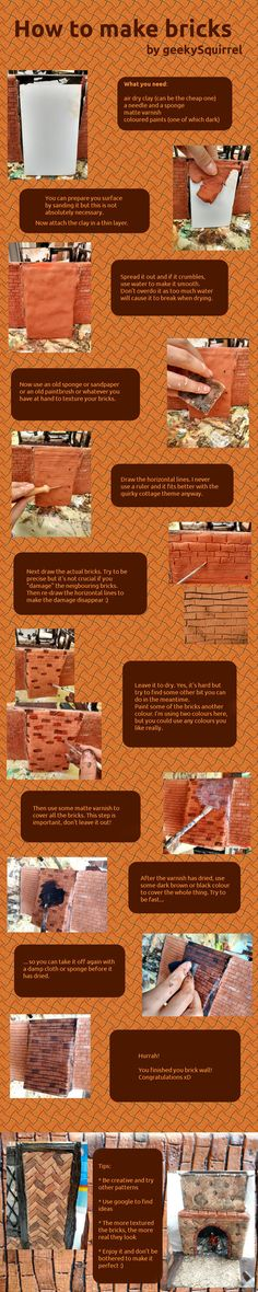 While I was working on my latest project, I thought this might be helpful for others. I got the idea from Rik Pierce, who's doll's houses I adore except he seems to be using some kind of paper clay...