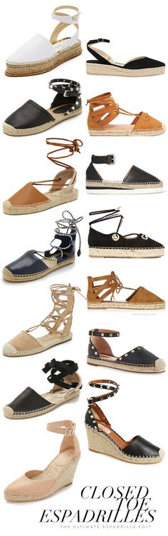 Closed-Toe  Espadrilles for Spring & Summer!
