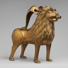 Aquamanile in the Form of a Lion [North German] (47.101.52) | Heilbrunn Timeline of Art History | The Metropolitan Museum of Art