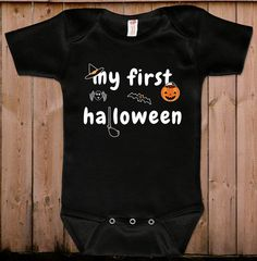 Baby halloween costumes Halloween costume My first halloween cute baby gift idea baby bodysuit gift for newborn one piece romper by teesandmoretees on Etsy https://www.etsy.com/listing/203335949/baby-halloween-costumes-halloween