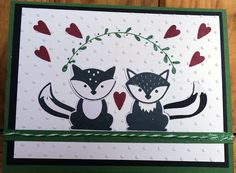 Anniversary card made for my hubby. Used Stampin Up' Foxy Friends stamps and Fox Bunch Builder.