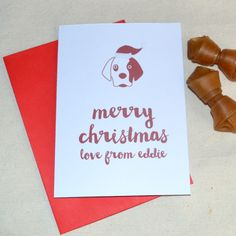 cute personalised dog christmas cards are the perfect way for your four legged friend to wish their human a merry christmas christmas card from the dog