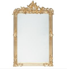 Antique Gold Wood Oblong Wall Mirror Read More:-  A gorgeous wooden oblong wall mirror in an antique gold finish.  The filigree detail will look beautiful hung on a wall or over a fireplace.
