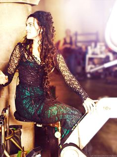 Katie McGrath as Morgana #Merlin #bts  |Tumblr.  I really did like her dress