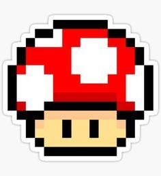 Red Mario Mushroom Pegatina