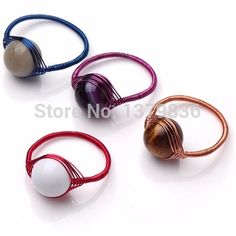 Find More Rings Information about 4 Pieces Multi Color Multi Stone Woven Ring,High Quality Rings from Lucky Fox Jewelry on Aliexpress.com