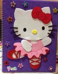 أفكار تزيين الدفاتر من الخارج للبنات سهلة وكيوت Hello Kitty Kitty Character