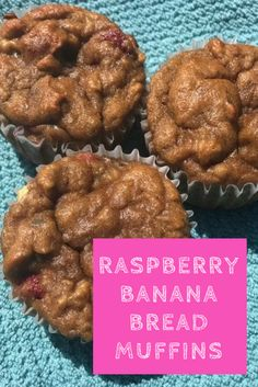 Raspberry Banana Bread Muffins - The raspberries in these gluten-free muffins are a sweet surprise!