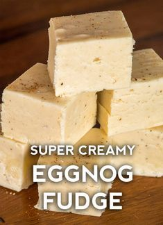 For those of you who love eggnog as much as we do (- and even if you're not the biggest fan of it), this is the best holiday treat to bring to parties. Köstliche Desserts, Holiday Desserts, Holiday Recipes, Delicious Desserts, Dessert Recipes, Yummy Food, Holiday Appetizers, Dessert Bread, Holiday Treats