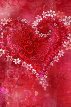 Live Wallpapers Free Red Flower Heart Wallpaper