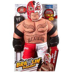 "WWE THE ROCK Brawling Buddies Talking Plush Wrestling Doll 16/"" Action Figure #9"