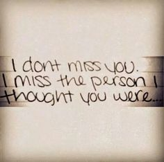 the person i thought you were