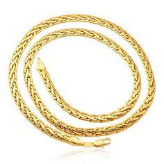 Banhados a ouro 18k colares homens 5 milímetros de espessura 55 centímetros