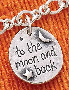 "Summer Collection - ""To the Moon and Back"" Charm shown on Medium Twist Chain #JamesAvery"