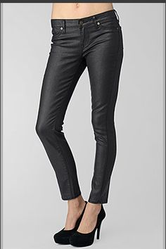 Not in the mood for a dress or denim?  These black coated jeans by Rich & Skinny are the perfect in-between!