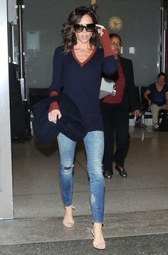 Fashion designer Victoria Beckham is seen arriving on a flight at LAX airport in Los Angeles, California on October 12, 2016.