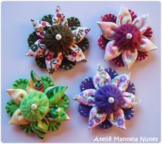 Flores de Fuxico, Tecido e Feltro