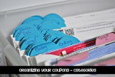 Organizing Your Coupons - The Shoe Box System