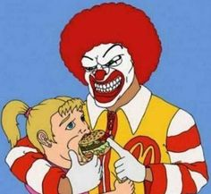 A rather frightening anti-fast food cartoon.