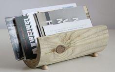 Tutoriale DIY: Cómo hacer un revistero minimalista de madera  vía DaWanda.com