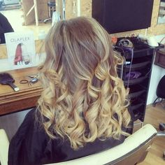 Balayage hair colour.