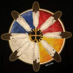 The most widely used version of the Medicine Wheel comes from the Lakota tradition. At its most basic, it consists of a large or special center stone to represent Wakan-Tanka, the Great Everything, and four smaller stones to represent the cardinal directions (N, S, E, W). Sometimes four even smaller stones representing the ordinal directions (NE, SE, SW, NW) are also used. http://crystal-cure.com/article-medicine-wheel.html