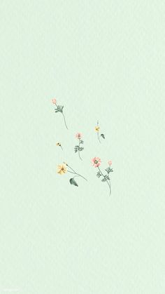 Download premium vector of Colorful flowers on a green background vector