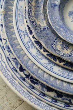 classic blue and white FleaingFrance Brocante Society via