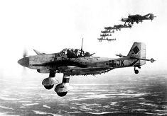 Germany's dive bombers Junkers Ju 87 or Stuka on mission at the Kandalaksha front USSR. Murmansk.in June 1944.