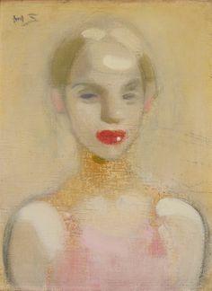 Helene Schjerfbeck (Finnish, 1862-1946), Circus Girl, 1916, Oil, Ateneum Art Museum, Helsinki.