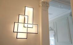 LED Lighting | Cinier (Beautiful lighting idea!! By day it's a wall sculpture and by night it's a fabulous light!)