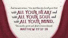 "Verse of the Day from Logos.com    마태복음 22:37-38, 예수께서 이르시되, ""'네 마음을 다하고, 목숨을 다하고, 뜻을 다하여, 주 너의 하나님을 사랑하라.' 하셨으니, 이것이 크고 첫째 되는 계명이요,"""