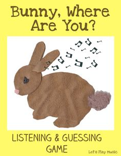 This Bunny Where Are You? Listening game is an engaging and stimulating group activity which is perfect for for the Spring and Easter season. Listening games are a brilliant way to develop auditory skills and social development. Learning to listen properly is key to following directions and really connecting with … Listening Activities For Kids, Listening Games, Preschool Music Activities, Kindergarten Music, Language Activities, Music Games, Gruffalo Activities, Listening Skills, Learning Games
