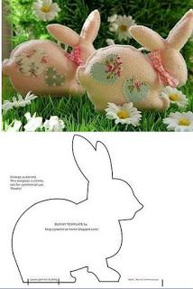 17 Rabbit Molds for Easter Crafts - See it Now! - 17 Rabbit Molds for Easter Crafts - See it Now! Easter Projects, Easter Crafts, Craft Projects, Bunny Crafts, Felt Crafts, Fabric Crafts, Diy And Crafts, Felt Patterns, Stuffed Toys Patterns