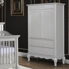 Brayden Studio Dishon Freestanding Wardrobe Armoire & Reviews | Wayfair Evolur Aurora, Fairytale Nursery, Armoire, Drawers, Furniture, Wayfair, 7 Drawer Dresser, Large Drawers, Accent Doors