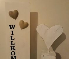 Holzschild  Willkommen, Holzbalken mit Herz shabby in Hessen - Siegbach Shabby, Home Decor, Exposed Beams, Hessen, Heart, Homemade Home Decor, Decoration Home, Interior Decorating